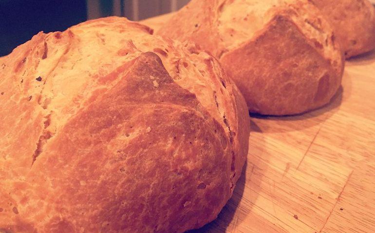 Fresh home-baked bread