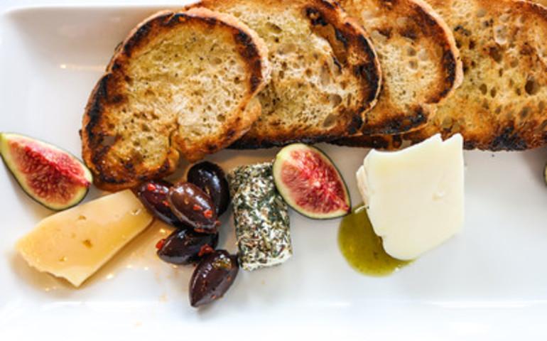 Grilled Ciabatta, Tomme, Pecorino Romano, Truffle Honey, Fresh Local Fig