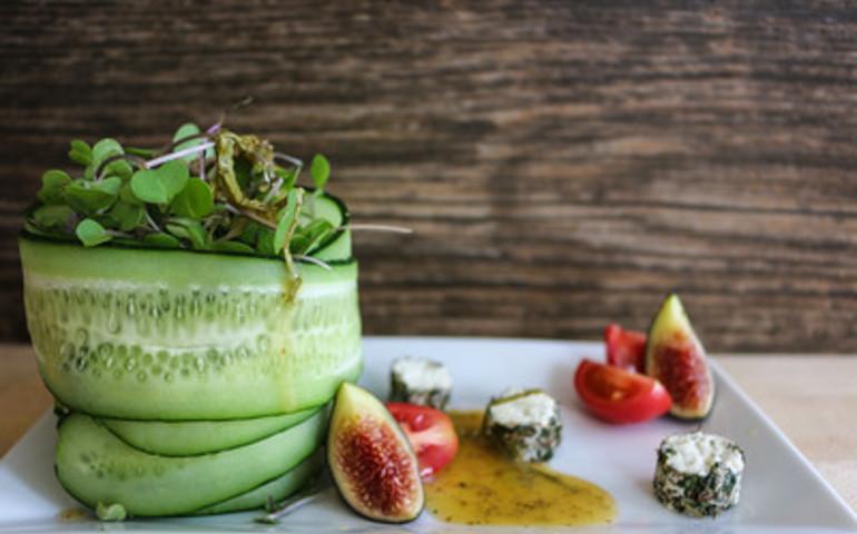 Micro Arugula Salad