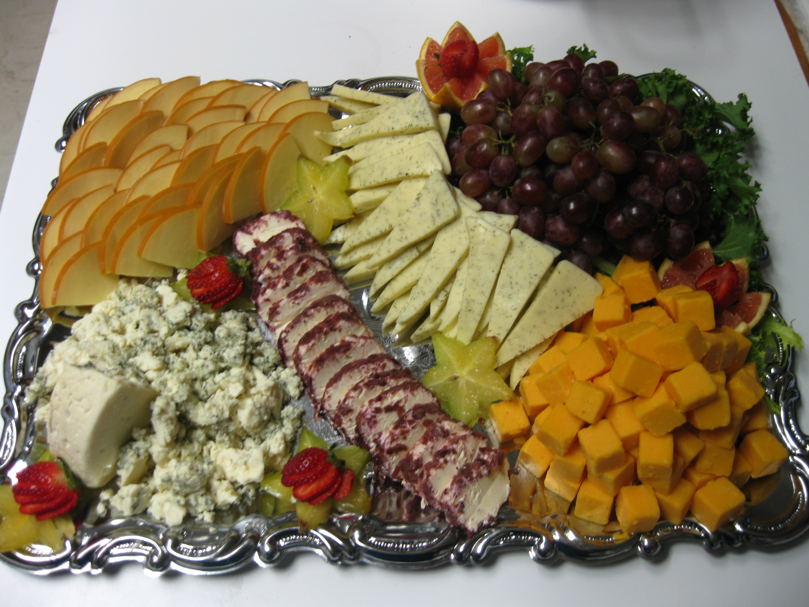 Our food party trays la tropicale catering for Canape platters