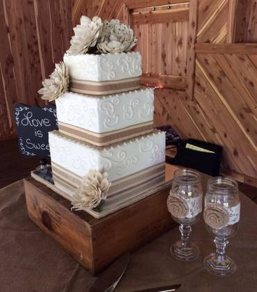 Beautiful three-tiered cake