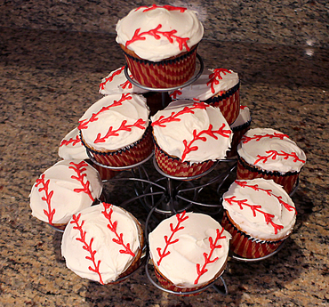 Themed  baseball pastries